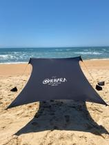Tenda Muhara Gazebo Barraca Sol Praia Camping Leve Prático Rápido Montar Alumínio