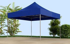 Tenda Sanfonada T&T medida 3x3 Cobertura em Lona Sintética Azul