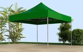 Tenda Sanfonada T&T medida 3x3 Cobertura em Lona Sintética Verde