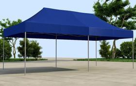 Tenda Sanfonada T&T medida 6x3 Cobertura em Lona Sintética Azul