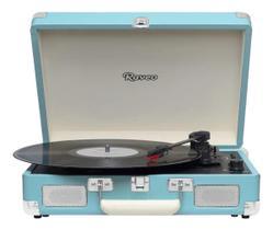 Toca Discos Raveo Sonetto Chrome Azul Reproduz E Grava Mp3