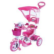 Triciclo Infantil Bel Brink Capota Removível C/ Mísica E Luzes Rosa
