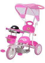 Triciclo Infantil Motoca 2 Em 1 Com Som, Luz E Capota Color