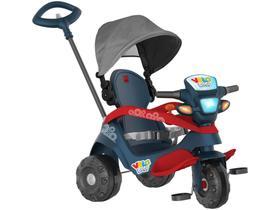 Triciclo Infantil Velobaby 337 com Empurrador e  - Capota Bandeirante