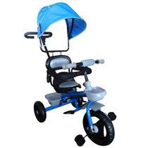 Triciclo Infantil Velotrol Com Capota Azul Importway Azul