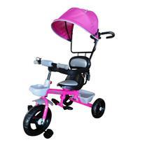 Triciclo Infantil Velotrol Com Capota Importway Rosa