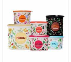 Tupperware Caixa Floral kit 6 peças
