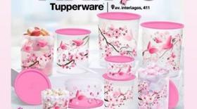Tupperware Instantaneas de armazenamento 9 pecas ( garsa Rosa)