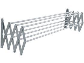 Varal aluminio parede sanfonado 100x47