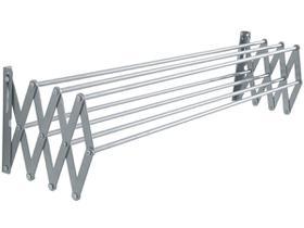 Varal Alumínio Parede Sanfonado 100X47cm
