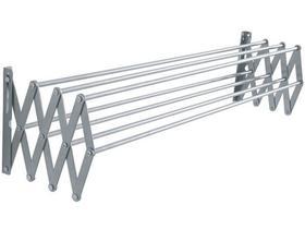 Varal de parede sanfonado alumínio  0,80cm