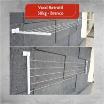 Varal de Roupa de Parede Retrátil Alumínio Articulado Extensível Até 4 MT - Home Varais