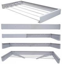 Varal Magico 4 Varetas Aluminio 50cm - Dobravel Branco