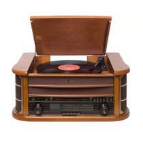Vitrola Raveo New Ópera Bluetooth CD FM Fita K7 10W Madeira