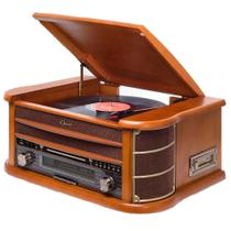 Vitrola Raveo New Opera BT - Toca-Discos CD Player Bluetooth Radio FM Fita Cassete Bivolt