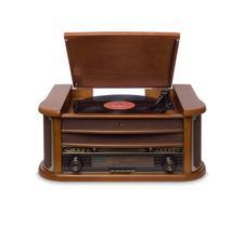 Vitrola Raveo Ópera Bluetooth LPs, K7s, CDs, USB e MP3