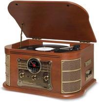 Vitrola Spazio Vinil Cd K7 Bluetooth Vintage - Toca Discos Clássico