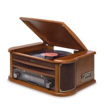 Vitrola Toca Disco e Toca CD Fita Kt Raveo Opera Bluetooth