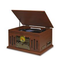 Vitrola Toca Disco e Toca CD Raveo Bluetooth Radio USB