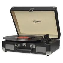 Vitrola Toca Disco Raveo Sonetto USB Portátil Chrome Black