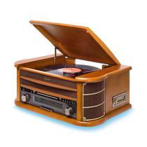 Vitrola Toca Discos Raveo Opera com Rádio CD K7 USB e Bluetooth