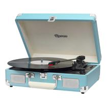 Vitrola Toca Discos Raveo Sonetto Chrome Light Blue