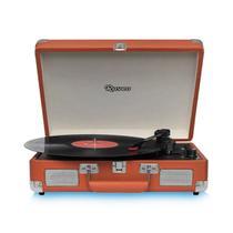 Vitrola Toca Discos Raveo Sonetto Chrome Marrom USB e Bluetooth
