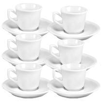 Xícara de café com pires 55 ml rio kit 06 porcelana 25