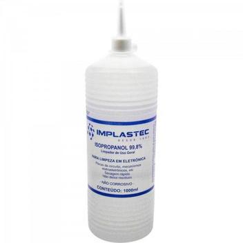 Álcool Isopropilíco 1000ML ISOPROPANOL Transparente IMPLASTE - Implastec