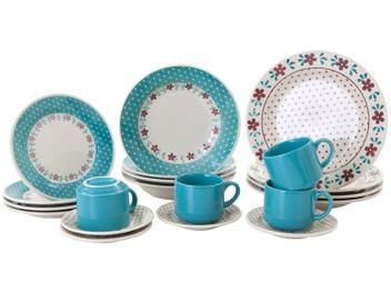 Aparelho de Jantar Chá 20 Peças Biona Cerâmica - Redondo Donna