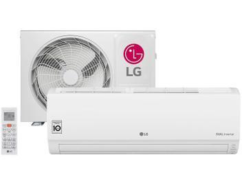 Ar-condicionado Split LG Inverter 9.000 BTUs - Quente/Frio Dual Inverter S4W09WA5WA