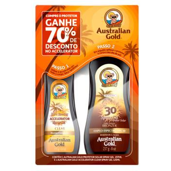 Australian Gold Dark Tanning Kit - Protetor Solar + Acelerador de Bronzeado