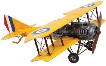 Aviao Amarelo Asas Duplas Medio Oldway