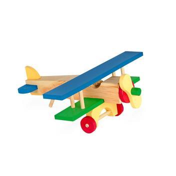 Aviao De Madeira 17 Peças - Carlu