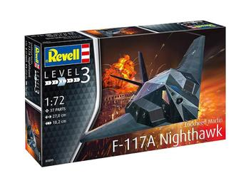 Aviao F-117 A Nighthawk Stealth Fighter - REVELL ALEMA