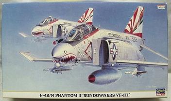 Avião F-4B/N Phanotm II - Sundowners VF-111 - HASEGAWA