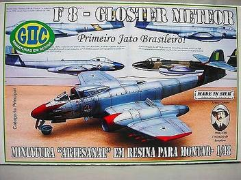 Avião F-8 Gloster Meteor - F.A.B. - GIIC