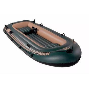 Barco Inflável Fischmann 350 com Remos e inflador MOR