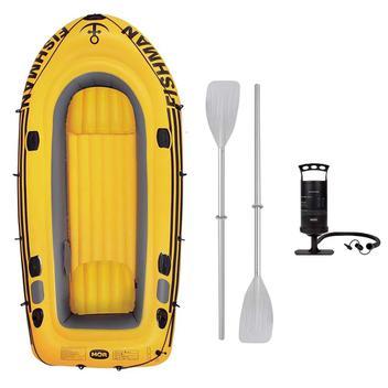 Barco Inflável Mor 350 Fishman Com Inflador e Remos Amarelo