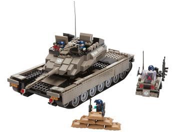 Blocos de Montar 577 Peças Xalingo - Aliança Justiça e Paz Defensiva Terrestre Tanque