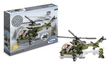 Blocos de Montar Helicóptero Lança Míssil 163 Pçs - Xalingo
