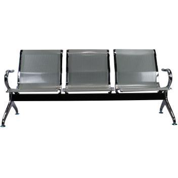 Cadeira Longarina Aeroporto 3 Lugares Cromado - Prata - TCL01 - Tander