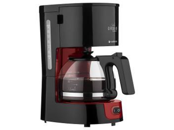 Oferta ➤ Cafeteira Elétrica Cadence Urban Compact – 15 Xícaras Preto e Vermelho 110 Volts (cód. 217727700)   . Veja essa promoção