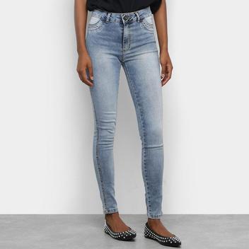 Calça Jeans Skinny TKS Estonada Cintura Média
