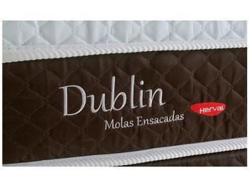 Cama Box Casal (Box + Colchão) Herval Mola - 26cm de Altura Dublin