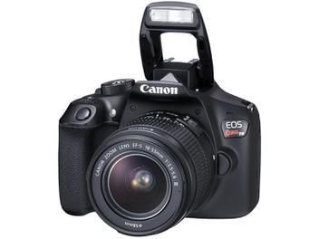 "Câmera Digital Canon EOS Rebel T6 18MP - 3"" Full HD Wi-Fi"