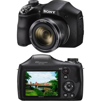Câmera Digital Sony DSC-H300, 20.1MP, Zoom Óptico 35x, Filma HD, Foto Panorâmica
