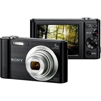 Câmera Digital Sony W800 20.1MP, 5x Zoom Óptico, Foto Panorâmica, Vídeos HD - Preto
