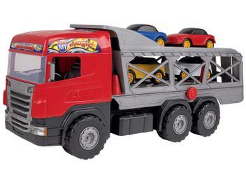 Caminhão de Brinquedo Super Cegonha Magic Toys - 5 Peças com Acessórios - Magazine Ofertaesperta