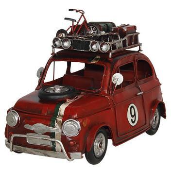 Carro Vermelho Em Metal N9 Oldway